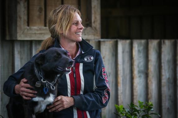 Kelley Barrington & dog - Equine Sports Medicine and Rehab Centre